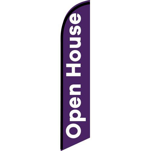 Open House Purple Feather Flag Banner