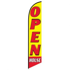 Open House red and yellow Feather Flag Banner