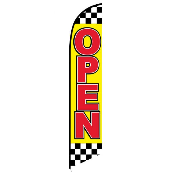 Open (checkered) Feather Flag Banner