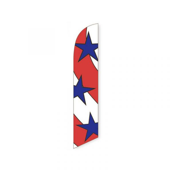 Patriotic Stars Feather Flag Banner