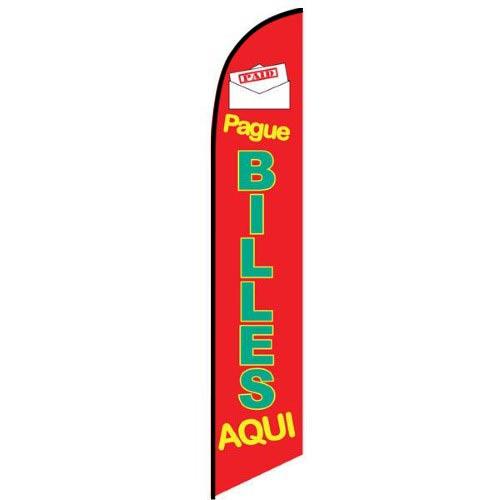 Pague Billes Aqui Feather Flag Banner