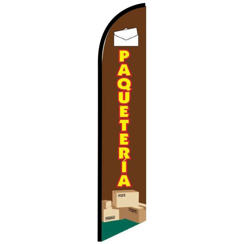 Paqueteria Feather Flag Banner