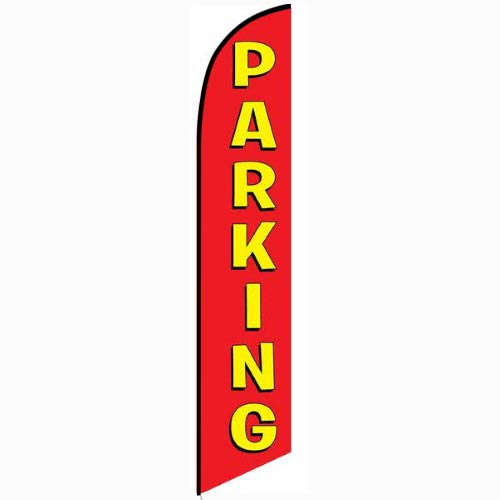 Parking Feather Flag Banner