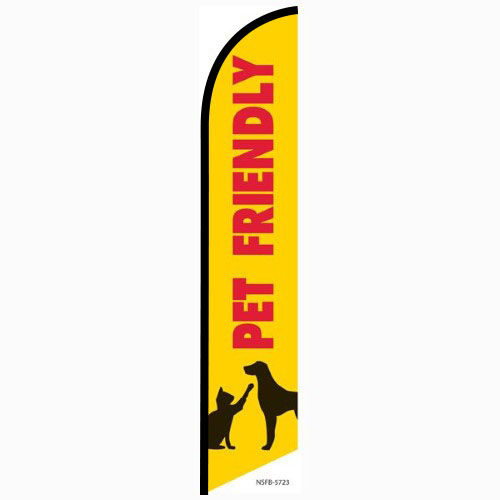 Pet Friendly Feather Flag Banner