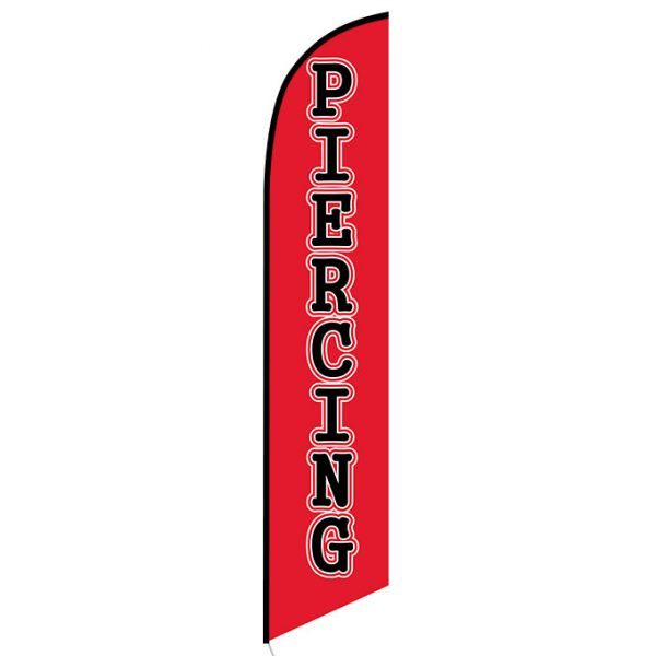 Piercing Feather Flag Banner