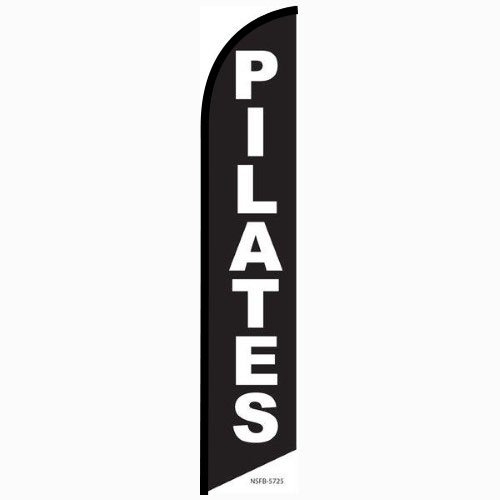 Pilates Feather Flag Banner