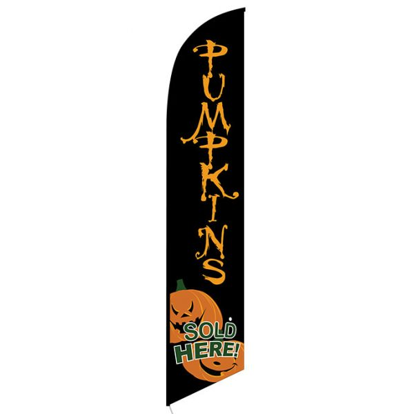 Pumpkins Sold Here Feather Flag Banner