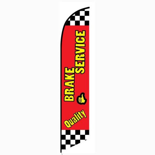 Quality Brake Service Feather Flag Banner