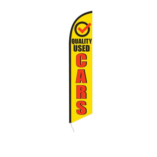 Quality Used Cars Feather Flag Banner