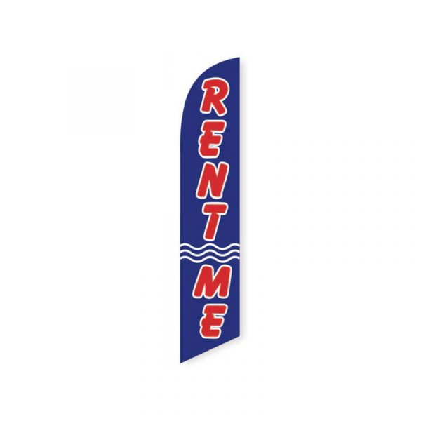 Rent Me Feather Flag Banner