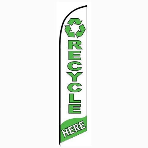Recycle Here Feather Flag Banner