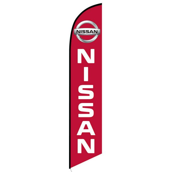 Red Nissan Feather Flag Banner