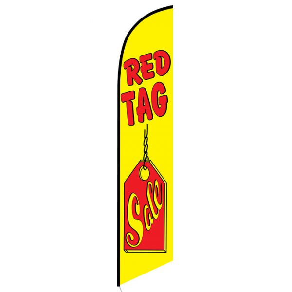 Red Tag Sale Feather Flag Banner