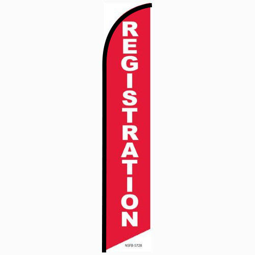 Registration Feather Flag Banner