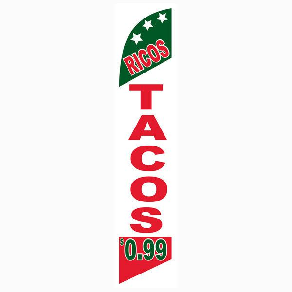 Ricos Tacos 99 cents Feather Flag Banner