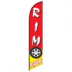 Rim Sale Red and Yellow Feather Flag Banner