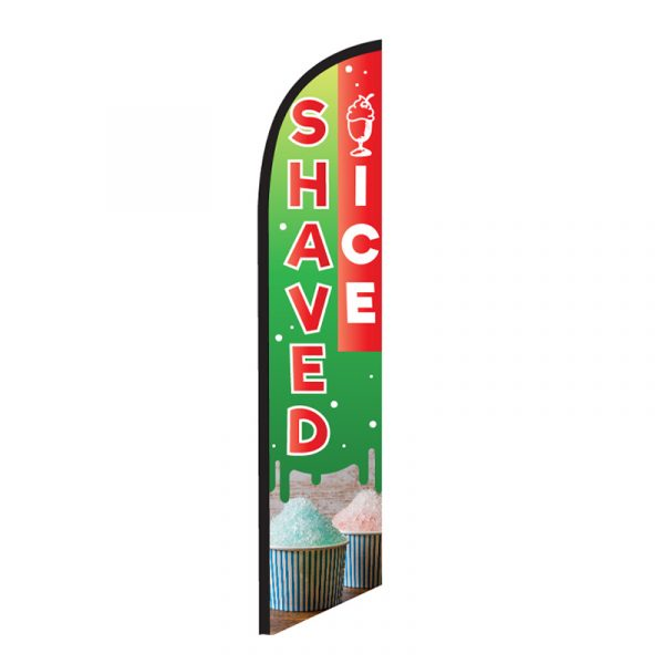 Shaved Ice Feather Flag Banner