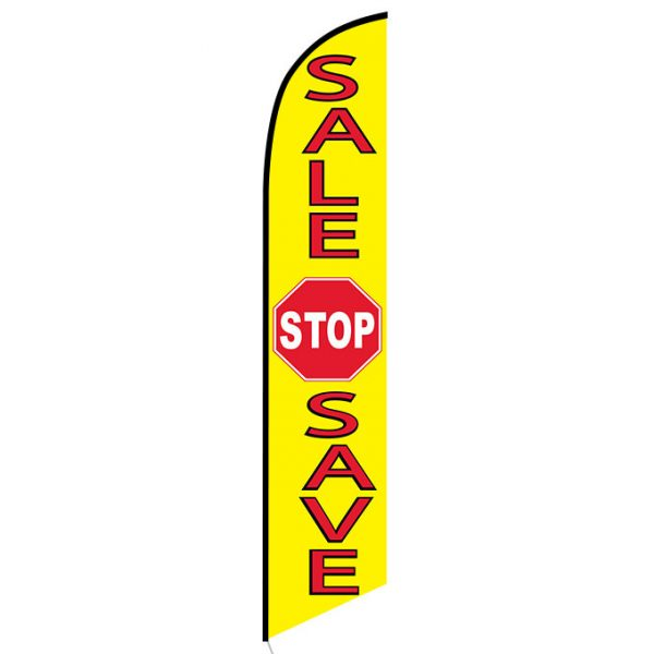 Sale Stop Save Feather Flag Banner