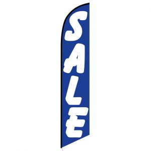Sale (blue and white) Feather Flag Banner