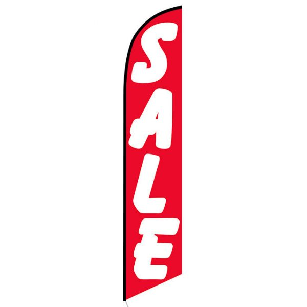 Sale (red and white) Feather Flag Banner