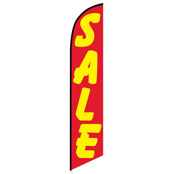 Sale (red and yellow) Feather Flag Banner