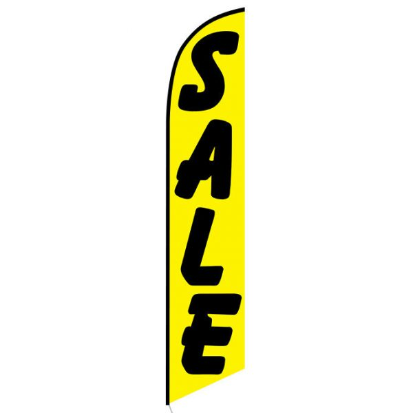 Sale (yellow and black) Feather Flag Banner