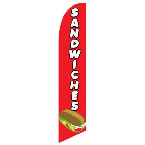 Sandwiches Feather Flag Banner