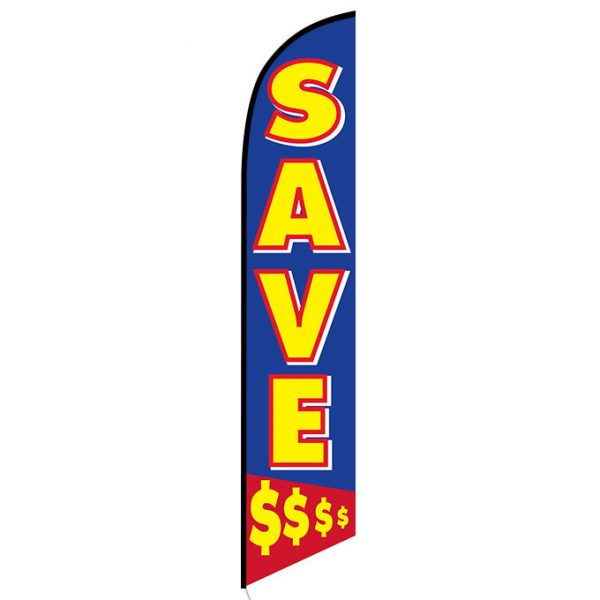 Save Money $$$$ Feather Flag Banner