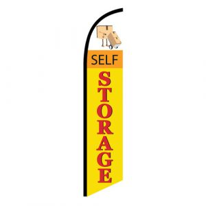 Self Storage Yellow Feather Flag Banner