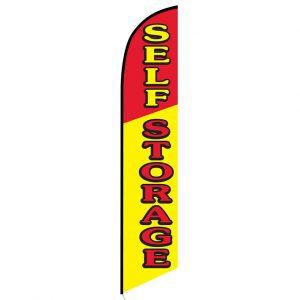 Self Storage Feather Flag Banner