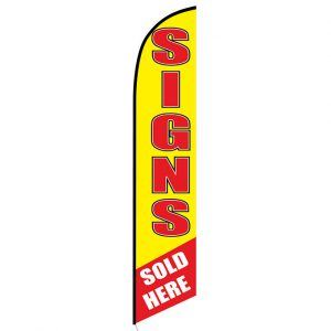 Signs Sold Here Feather Flag Banner