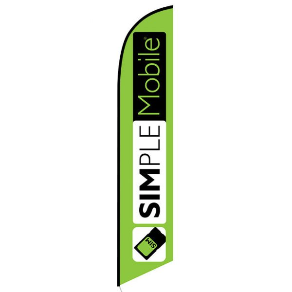 Simplemobile wireless lime Feather Flag Banner