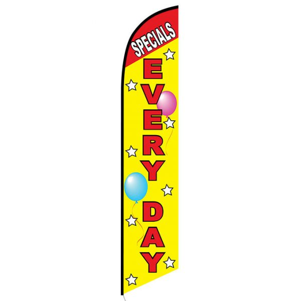 Specials Every Day Feather Flag Banner