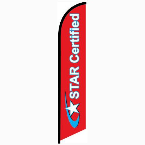 Star Certified Feather Flag Banner