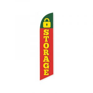 Storage (Green and Red) Feather Flag Banner