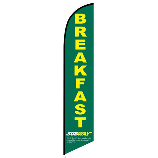 Subway Breakfast Feather Flag Banner