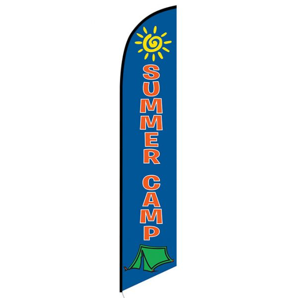 Summer Camp Feather Flag Banner