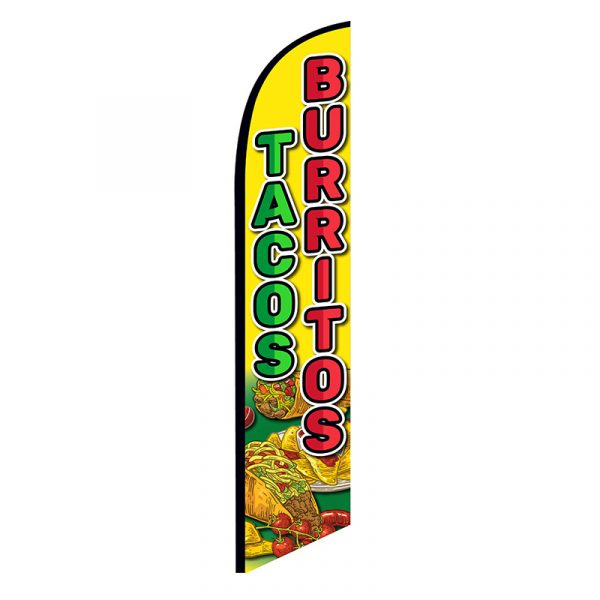 Tacos Burritos Feather Flag Banner
