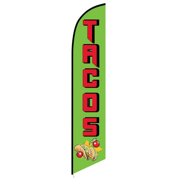 Tacos Feather Flag Banner