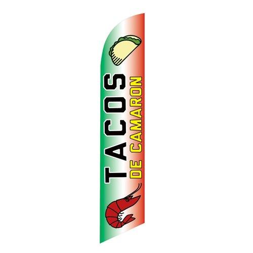 Tacos de Camaron Feather Flag Banner