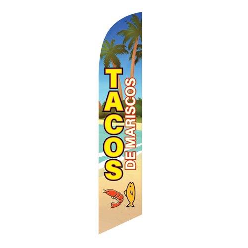 Tacos de Pescado Feather Flag Banner