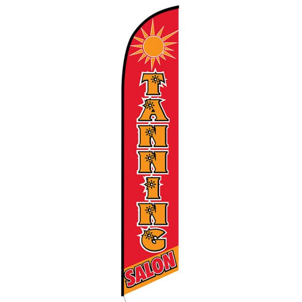 Tanning Salon Feather Flag Banner