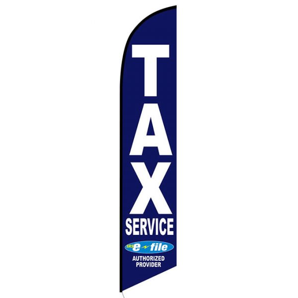 Tax Service Feather Flag Banner Blue
