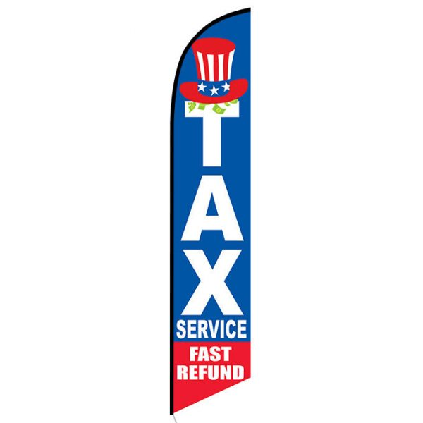 Tax Service Fast Refund Feather Flag Banner