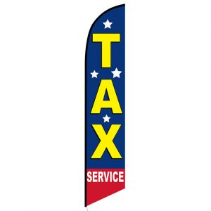 Tax Service Feather Flag Banner with stars
