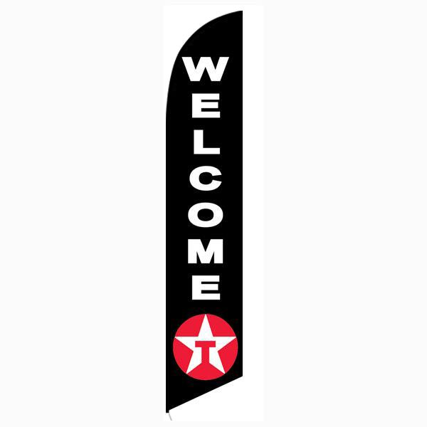 Texaco Welcome Feather Flag Banner