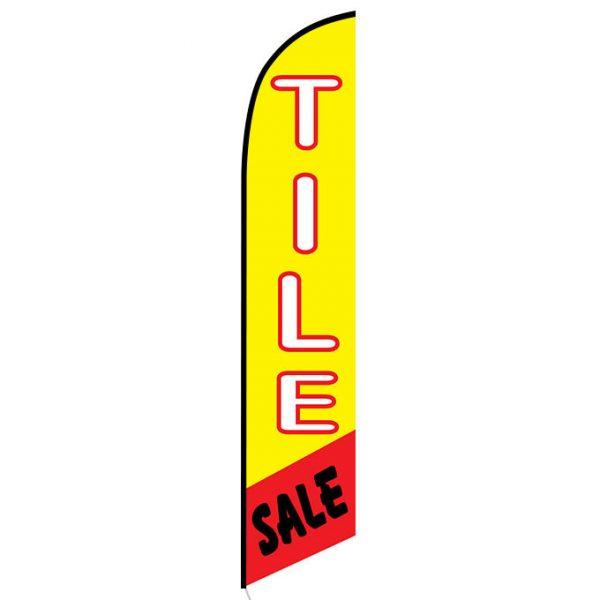 Tile Sale Feather Flag Banner