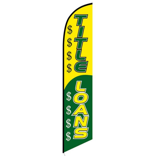 Title Loans Feather Flag Banner