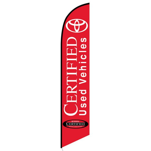 Toyota Certified Used Vehicles Feather Flag Banner