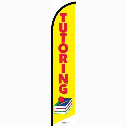 Tutoring Feather Flag Banner